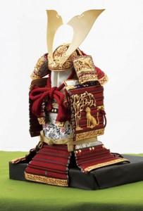 五月人形 国宝模写 竹雀赤糸威鎧模写