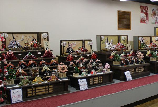 人形のまち岩槻 小木人形 雛人形 焼桐五段飾り