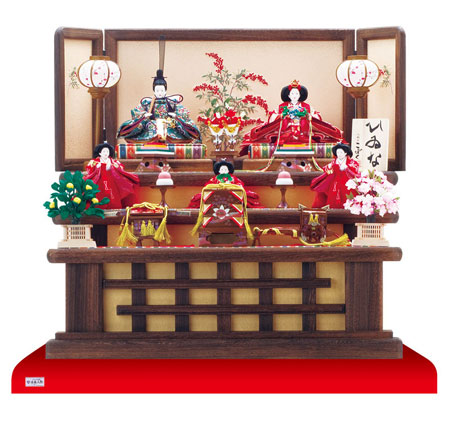 人形のまち岩槻 小木人形 雛人形 2016年度 人気三段飾りセット