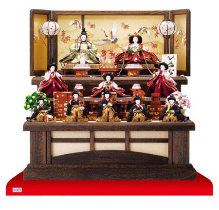 人形のまち岩槻 小木人形 雛人形 人気三段飾りのおひなさま