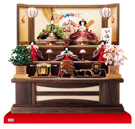 人形のまち岩槻 小木人形 雛人形 焼桐三段飾りセット