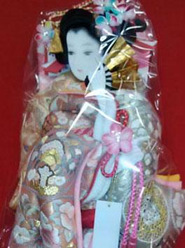 人形のまち岩槻 小木人形 人気羽子板飾り 汕頭刺繍の袋帯