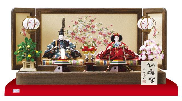 人形のまち岩槻 小木人形 雛人形 人気親王飾りコンパクトサイズ