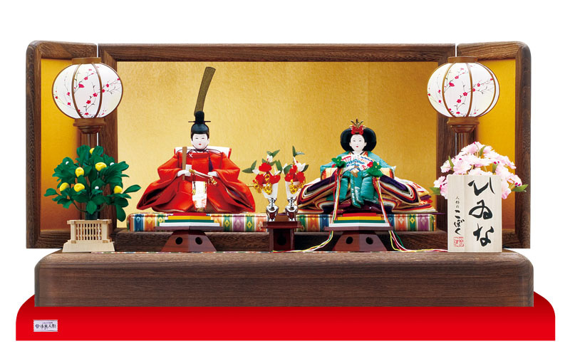 人形のまち岩槻小木人形 雛人形 皇太子親王飾り