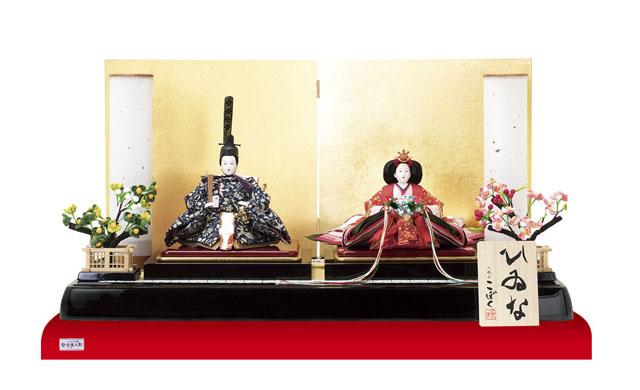 人形のまち岩槻 小木人形 塗り平台親王飾り