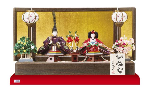 人形のまち岩槻 小木人形 雛人形 コンパクトサイズの親王飾り