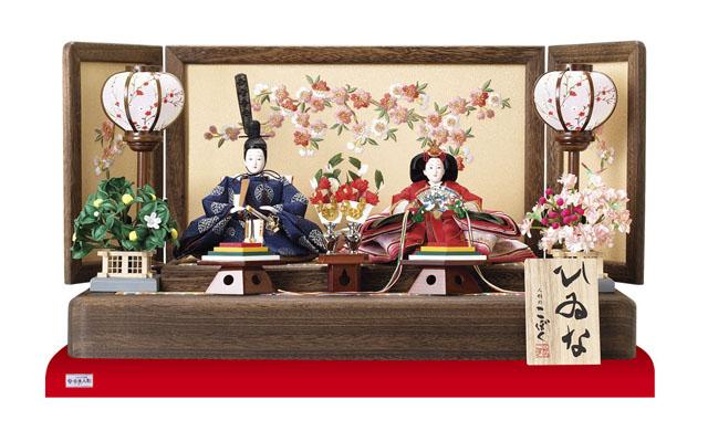 人形のまち岩槻 小木人形 雛人形 コンパクトミニ焼桐親王飾り