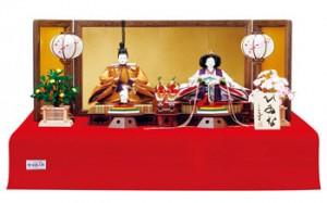 2016年度ひな人形 毛氈飾りの親王飾り