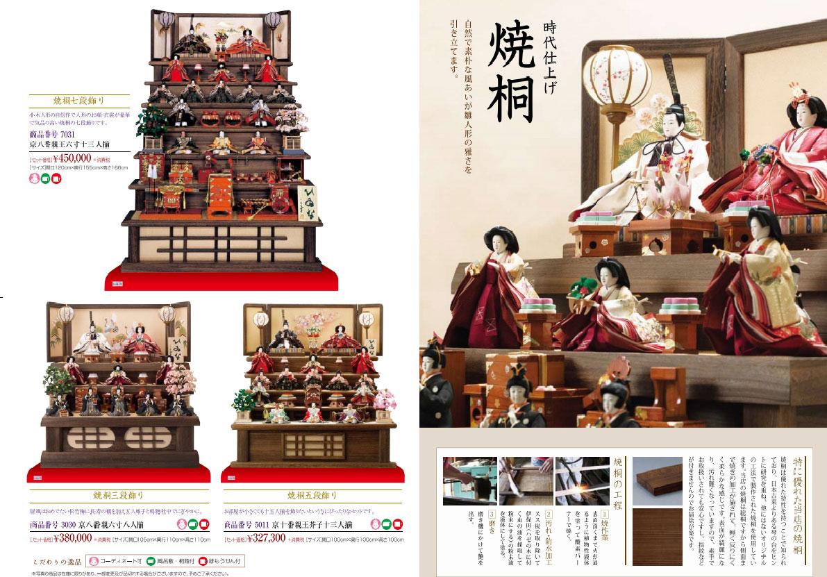 人形のまち岩槻 小木人形 雛人形    焼桐雛段のおひなさま