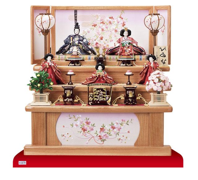 人形のまち 岩槻 雛人形塗桐三段飾り