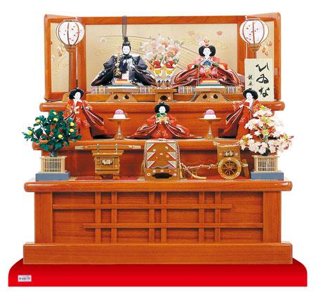 人形のまち岩槻 雛人形 塗桐三段飾り