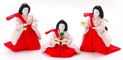 人形のまち岩槻 小木人形 雛人形 三段飾り 官女