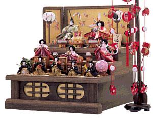 人形のまち岩槻 小木人形 雛人形 焼桐飾り台は人気商品です