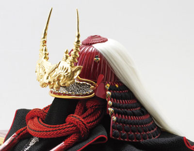 人形のまち岩槻 小木人形 五月人形 戦国武将 武田信玄公 陣幕兜飾りセット