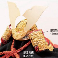 五月人形 青森 櫛引八幡宮所蔵 (鎌倉時代後期)国宝模写 菊一文字金物赤糸縅大鎧模写 兜飾り