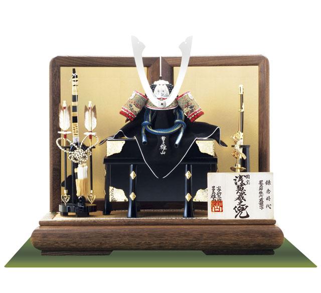 (広島 厳島神社所蔵(鎌倉時代後期) 国宝模写 浅葱綾威大鎧 兜飾り