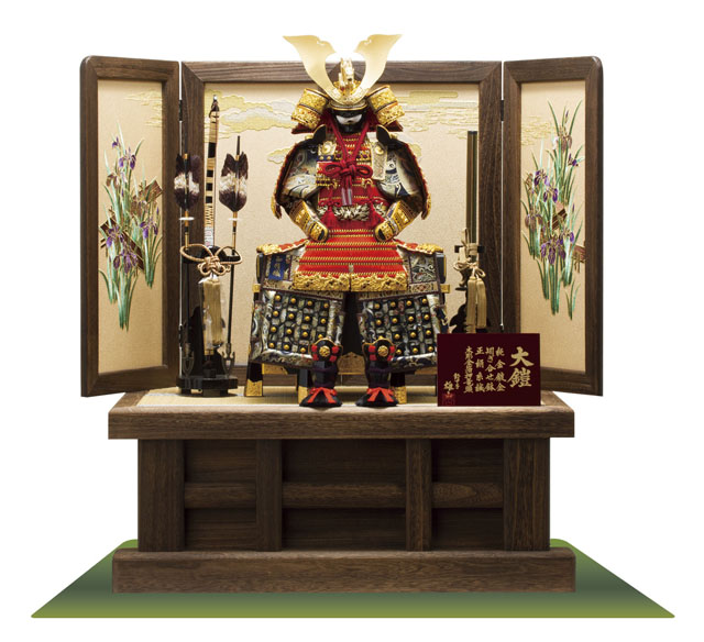 五月人形 焼桐高床台鎧飾り