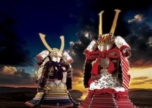 五月人形 愛媛県今治市大三島 大山祇神社 国宝 赤糸威胴丸鎧模写