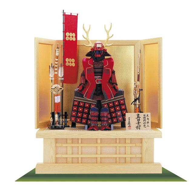 五月人形は人気の武将 真田幸村公 鎧高床台飾り No2271