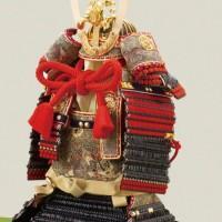 五月人形 広島 厳島社所蔵 重要文化財 黒韋威肩紅の大鎧模写   三分之一 鎧飾り