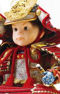 五月人形はわんぱく龍虎屏風飾り 陣君 No3992