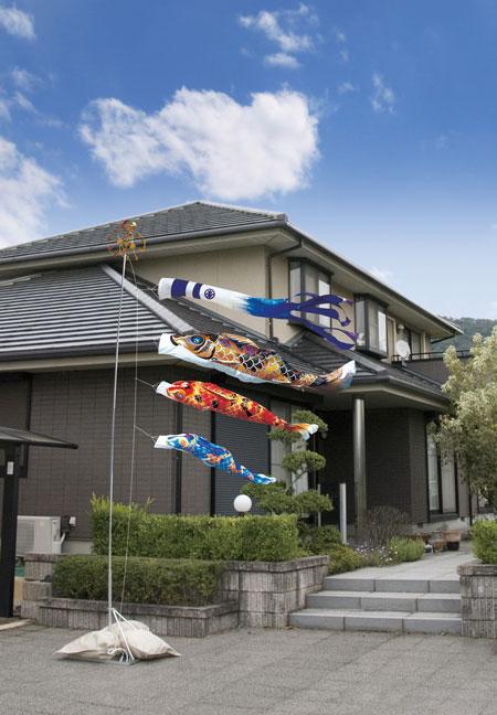 五月人形 端午の節句 鯉のぼり  庭園セット
