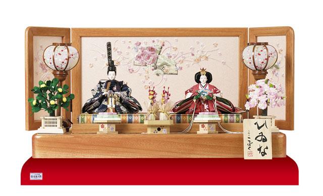 i人形のまち岩槻 小木人形 雛人形 塗り桐親王飾りセット