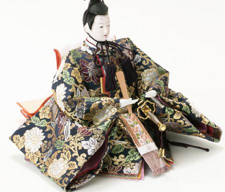 人形のまち岩槻 小木人形 雛人形 焼桐三段飾り 親王