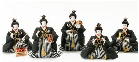人形のまち岩槻 小木人形 雛人形 焼桐三段飾り 五人囃子