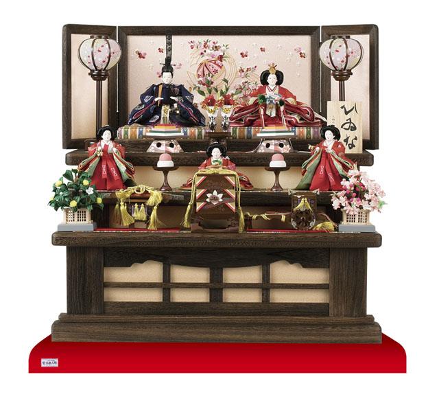 人形のまち岩槻 小木人形 焼桐三段コンパクトサイズの雛人形