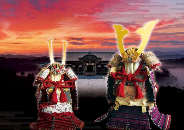 人形のまち岩槻 小木人形 五月人形 国宝模写鎧兜