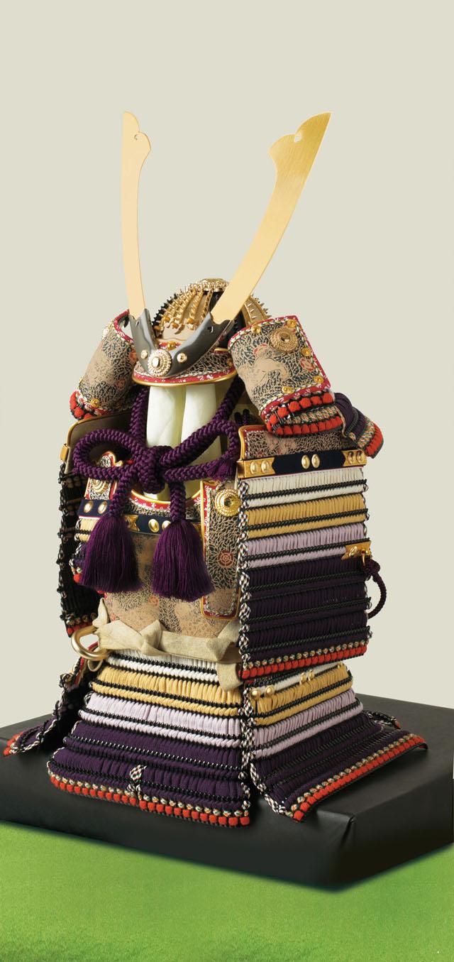 五月人形 東京 御岳神社所蔵 重要文化財 紫裾濃威大鎧模写 鎧飾り