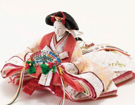 2018年度雛人形 京小十番親王収納飾り No1026 女雛