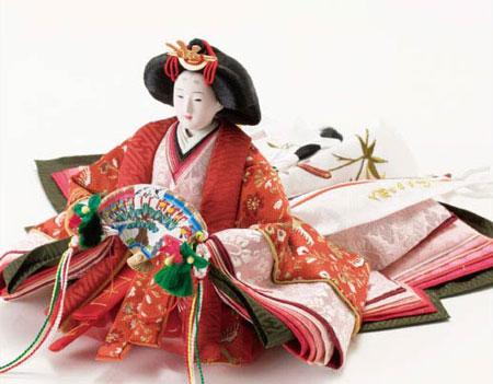 雛人形・塗り台京小十番親王飾り 商品番号 No1007 女雛