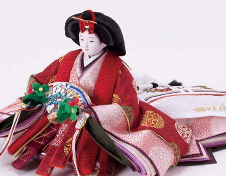 雛人形・ 京小十番焼桐平台親王飾りNo1009A 女雛