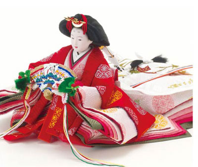 雛人形・京小十番焼桐平台親王飾りNo1009B 女雛