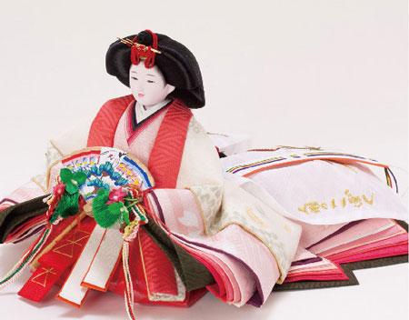 雛人形・塗り台京小十番親王飾り 商品番号 No1008 女雛