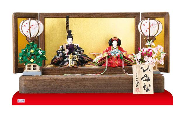 雛人形・京十二番焼桐平台親王飾り No1201