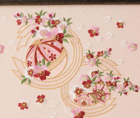 雛人形・京小十番親王柳官女付焼桐三段飾りセットNo2993 雛屏風