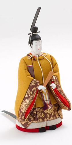 雛人形・立雛木目込み親王平台飾り 紫野 No8700 男雛