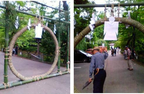 茅の輪くぐり 氷川神社