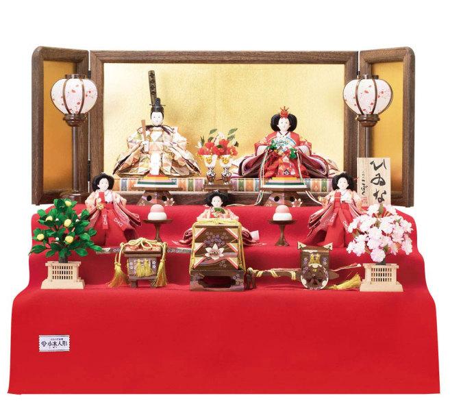 人形のまち岩槻 小木人形 雛人形 三段飾り