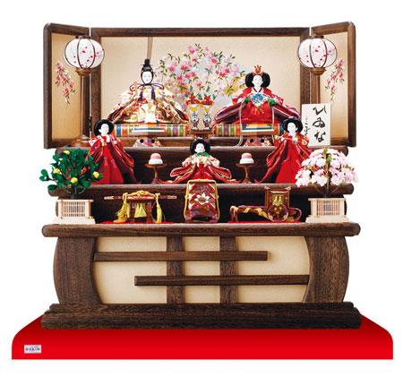 人形のまち岩槻 小木人形 雛人形 焼桐三段飾り