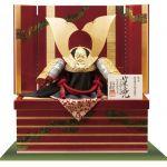 国宝 赤糸威『竹に虎雀大鎧』 奈良 春日大社所蔵 鎌倉時代末期 模写収納飾り台兜飾りセット