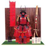戦国武将・前田慶次公 宮坂考古館朱漆五枚胴具足模写 鎧飾り